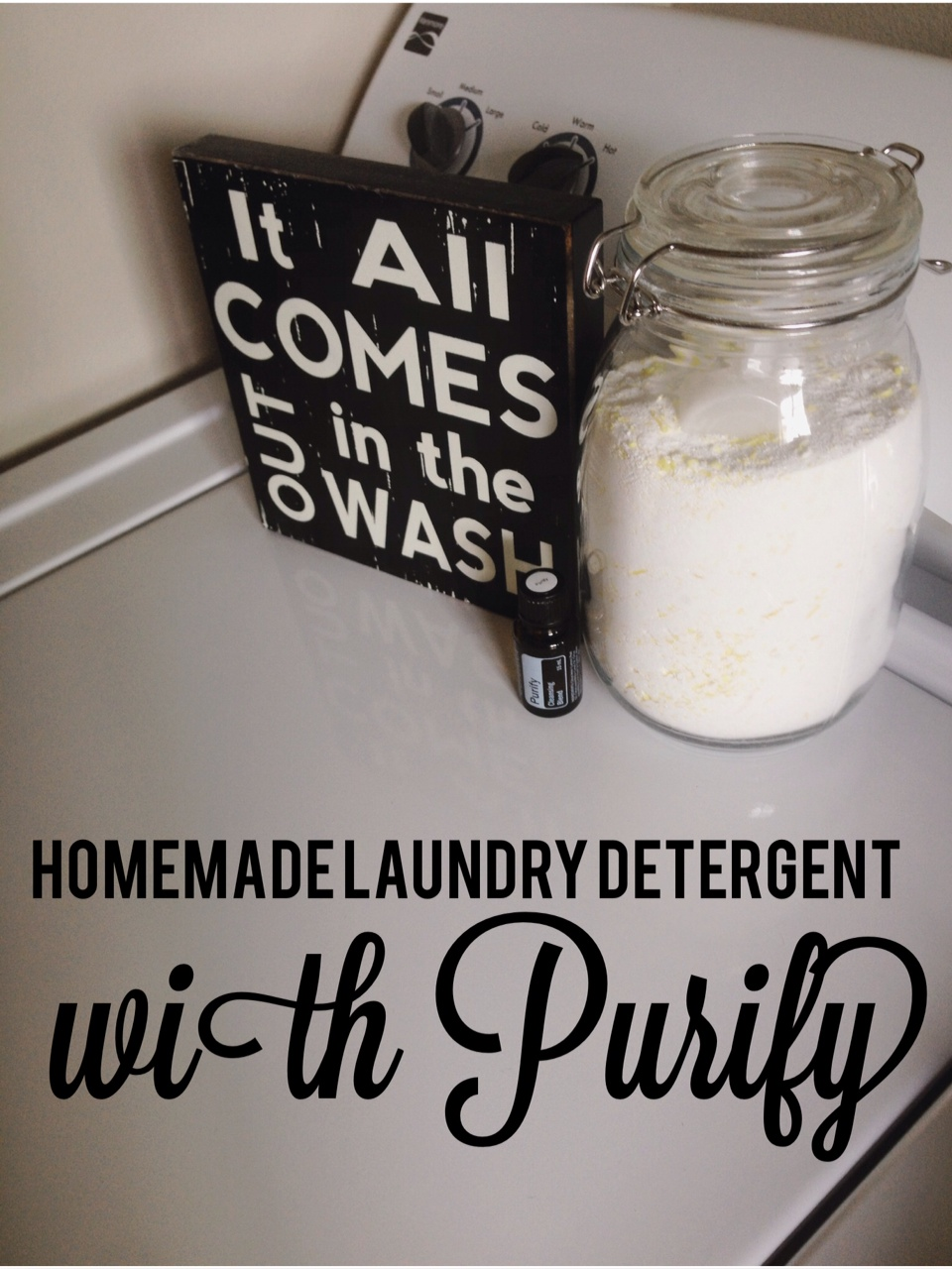 Homemade Laundry Detergent with doTERRA Purify