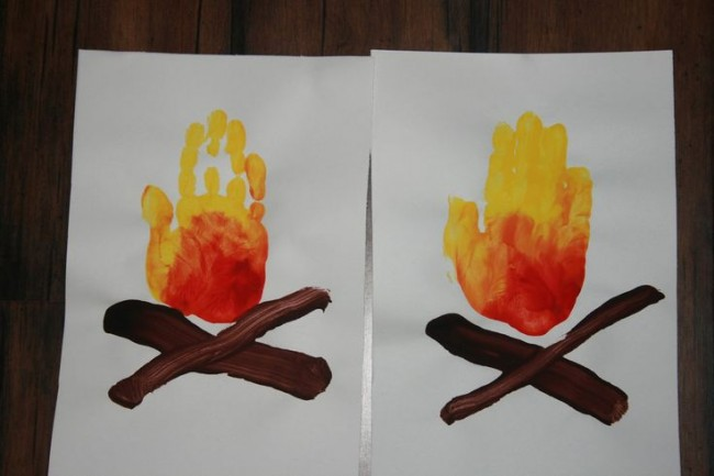 hand print projects fire