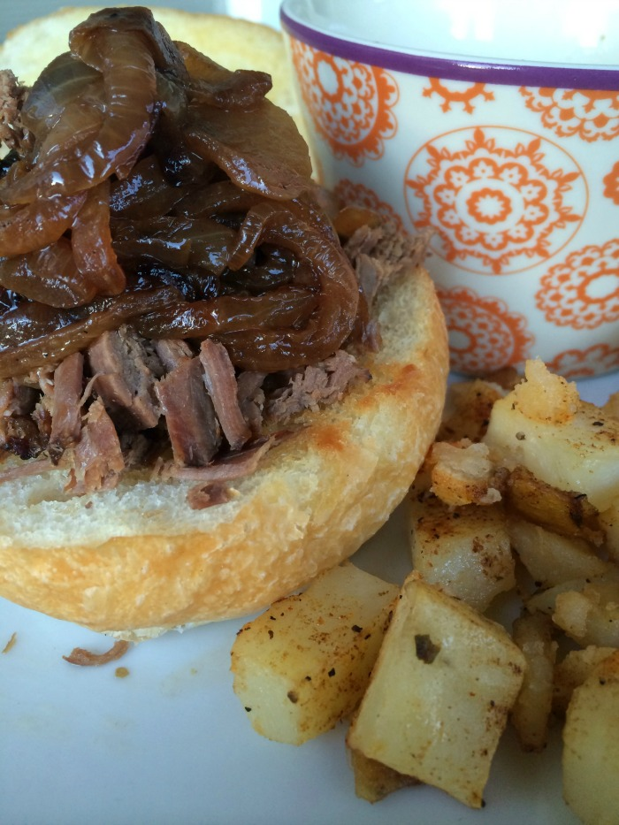 slower cooker beef roast french dip