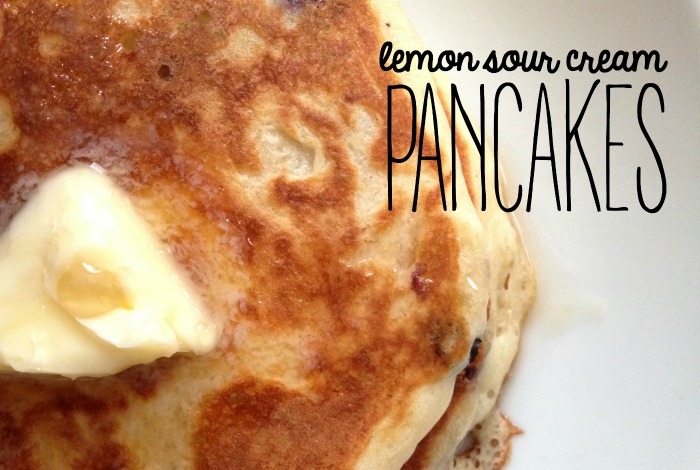 LEMON SOUR CREAM PANCAKES