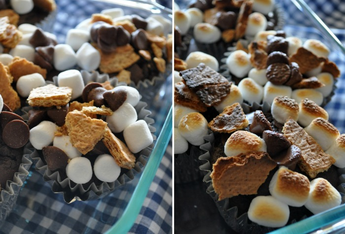 before and after smores