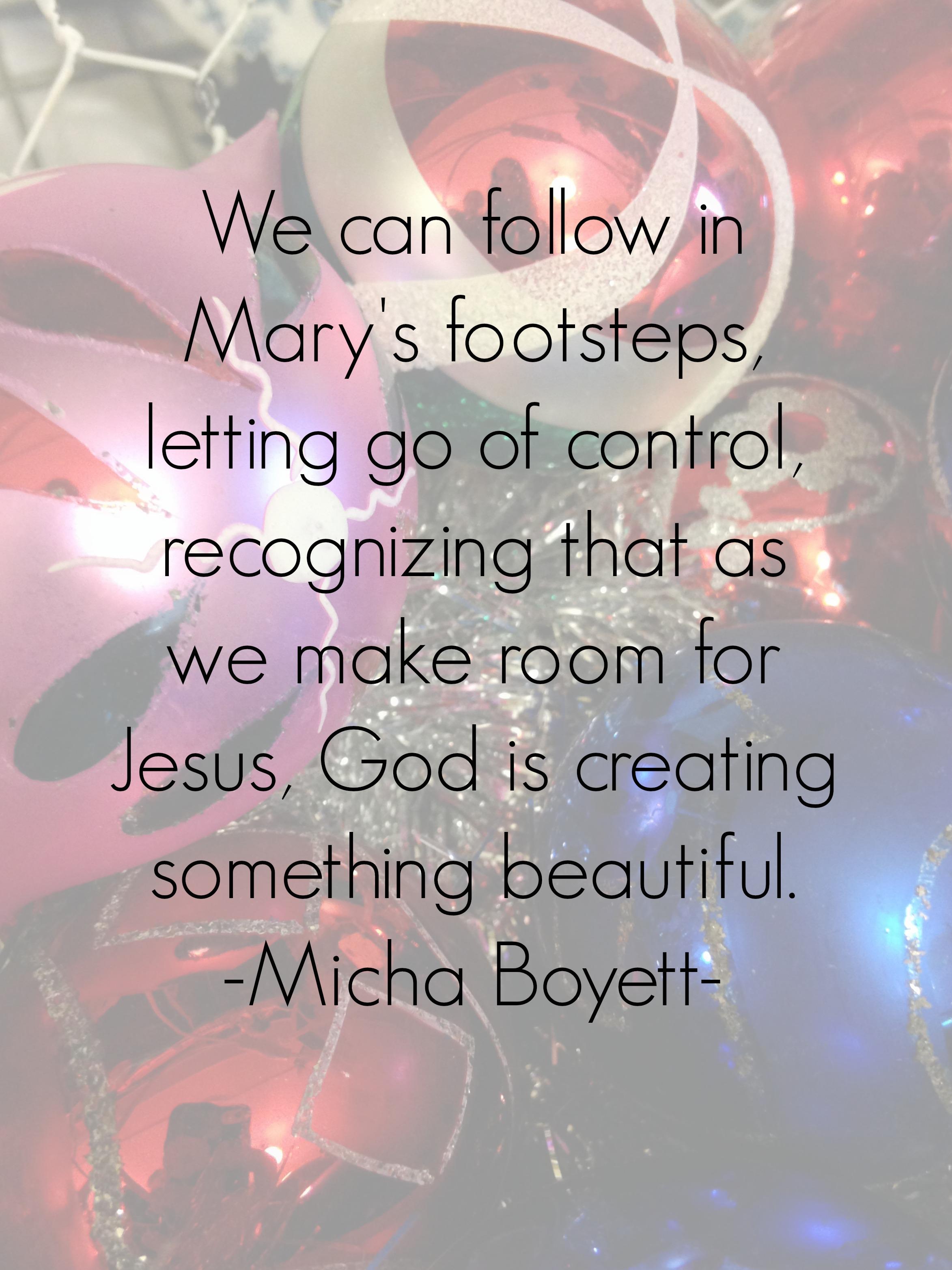make room for Jesus