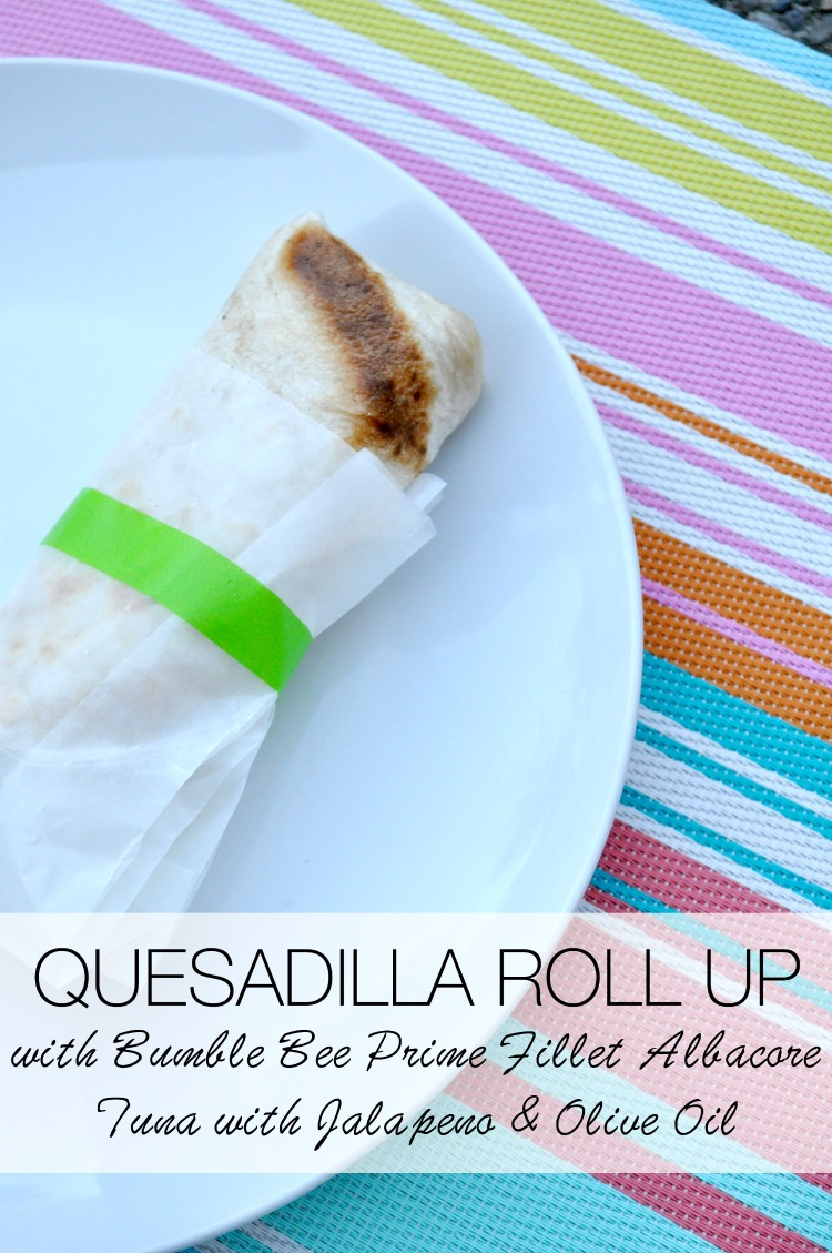 quesadilla roll up with bumble bee