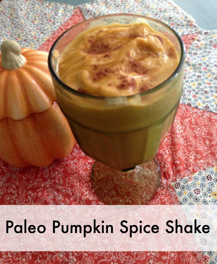 paleo pumpkin spice shake