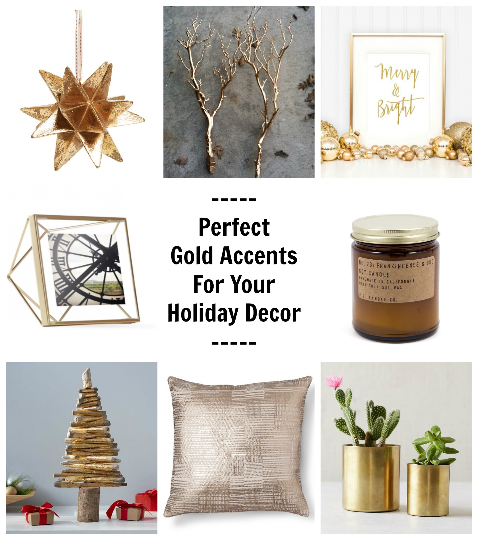 Perfect gold accents for your holiday decor Home decor gold